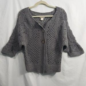 Sundance gray open knit cardigan sweater